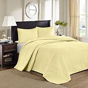 Madison Park Quebec Quilted Bedspread Set - Yellow