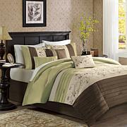 Madison Park Serene 7pc Comforter Set - Queen/Green