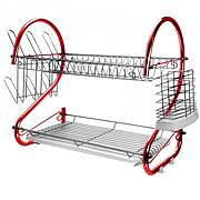 "Mega Chef 16"" Two Shelf Dish Rack"