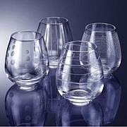 "Mikasa ""Cheers"" Stemless Wine Glasses"