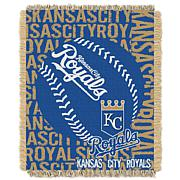 MLB Double Play Woven Throw - Kansas City Royals