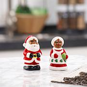 """Mr. Christmas Set of 3.5"""" Salt and Pepper Shakers"""