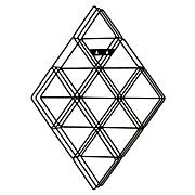 Murphy Diamond-Shaped Wall-Mount CD Rack