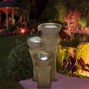 Navarro Cascade Bowls Fountain with LED Lights