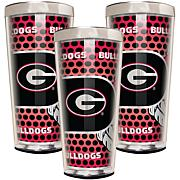 NCAA 3-piece Shot Glass Set - Georgia