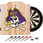 NCAA Dart Cabinet w/ Darts & Board - East Carolina Univ