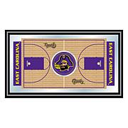NCAA Framed Basketball Court Mirror - East Carolina