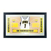 NCAA Framed Basketball Jersey Mirror - Iowa
