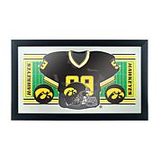 NCAA Framed Football Jersey Mirror - University of Iowa