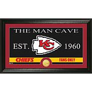 "NFL ""Man Cave"" Bronze Coin Panoramic Photo Mint-Chiefs"