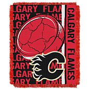 NHL Double Play Woven Throw - Calgary Flames