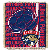 NHL Double Play Woven Throw - Florida Panthers