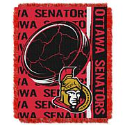 NHL Double Play Woven Throw - Ottawa Senators