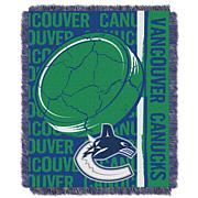NHL Double Play Woven Throw - Vancouver Canucks