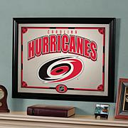 "NHL Team 23"" x 18"" Framed Mirror - Carolina Hurricanes"