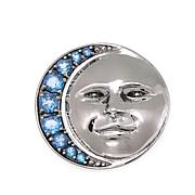 Nicky Butler 2.50ctw Sky Blue Topaz Man in the Moon Pin/Pendant