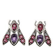 Nicky Butler 3.3ctw Amethyst and Multigemstone Bee Earrings