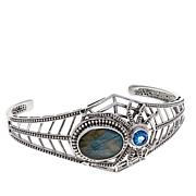 Nicky Butler 8.55ctw Labradorite and Topaz Spider Cuff