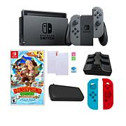 "Nintendo Switch Bundle w/""Donkey Kong Country: Tropical Freeze"" Game"