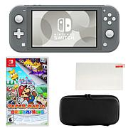 Nintendo Switch Lite with Paper Mario Game and Accessories
