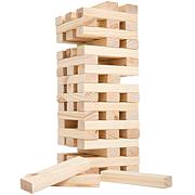 Nontraditional Giant Wooden Blocks Tower Stacking Game by Hey! Play!