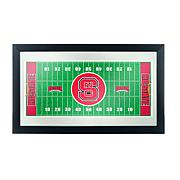 North Carolina State Football Field Framed Mirror