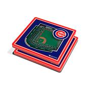 Officially Licensed MLB 3D StadiumViews Coaster Set - Chicago Cubs