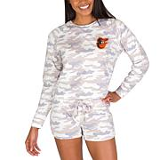 Officially Licensed MLB Concept Sport Ladies Top and Short Set