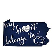 """Officially Licensed NCAA """"My Heart Belongs to"""" Sign"""