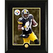 Officially Licensed NFL Antonio Brown Gold Coin Canvas Photo Mint