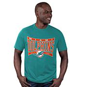 Officially Licensed NFL Black Label Mens Short-Sleeve Logo Tee by Glll