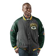 Officially Licensed NFL Men's Power Hitter Varsity Jacket by Glll
