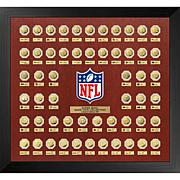 """Officially Licensed NFL Super Bowl Gold """"Flip Coin"""" 55-Coin Collection"""