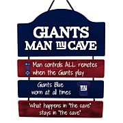 Officially Licensed NFL Wooden Man Cave Sign by Team Beans
