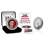 Officially Licensed Tom Brady Tampa Bay Buccaneers Color Silver Coin