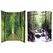 Oriental Furniture Path of Life 4-Panel Room Divider