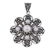 Ottoman Jewelry Cultured Freshwater Floral Pendant