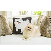 """Patricia Altschul 18"""" Square Hand-Hooked Decorative Pillow"""