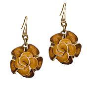 Patricia Nash Annette Leather Flower Drop Earrings