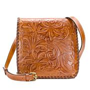 Patricia Nash Granada Tooled Leather Crossbody Bag