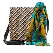 Patricia Nash Granada Woven  Crossbody Bag with Scarf