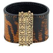 Patricia Nash Oliana Reversible Leather Floret Design Cuff