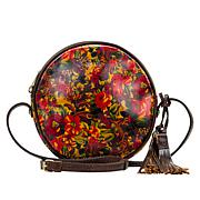 Patricia Nash Scafati Leather Canteen-Shaped Crossbody Bag