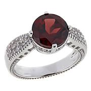 Paul Deasy Gem 2.89ctw Garnet and White Zircon Sterling Silver Ring