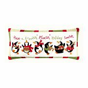 Penguin Holiday Pillow