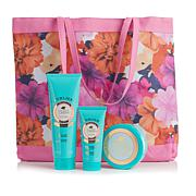 Perlier Golden Almond 3-piece Kit with Floral Tote