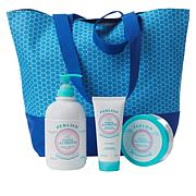 Perlier White Almond 3-piece Set with Tote Bag