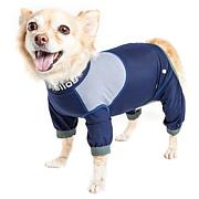 Pet Life SM 4-Way-Stretch Breathable Full Body Dog Track Suit