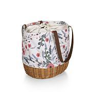 Picnic Time Coronado Basket Tote - Floral Pattern