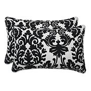 Pillow Perfect Set of 2 Essence Throw Pillows - Black